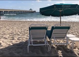 Praia de Deerfield Beach, FL. Foto City of Deerfield Beach