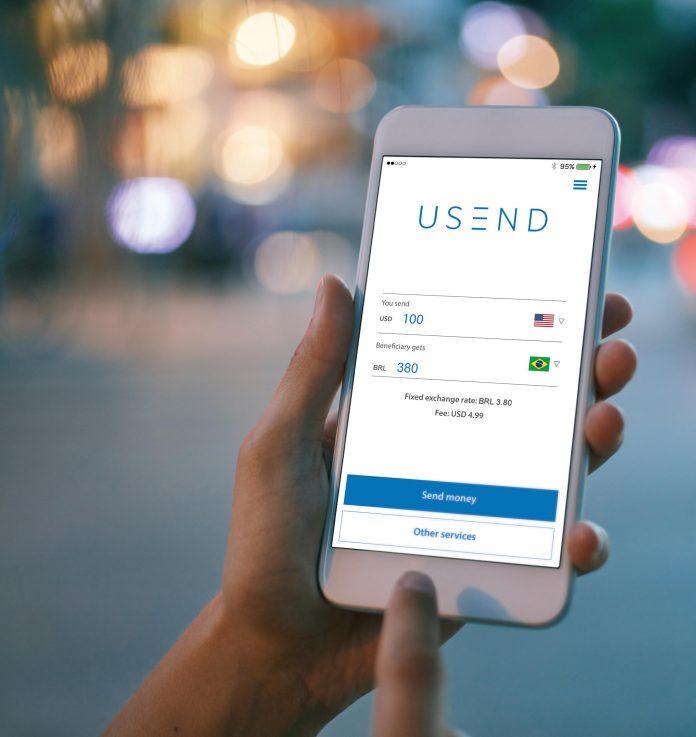 Aplicativo USEND facilita a vida de quem quer mandar dinheiro para o Brasil