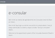 Sistema e-consular é usado para agendamento de serviços