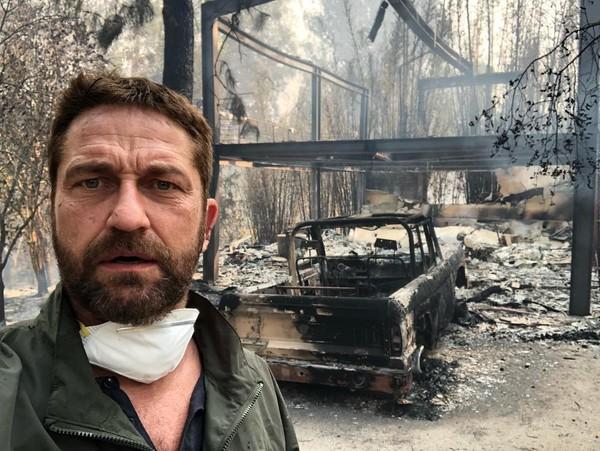 Gerard Butler tem casa destruída em incêndio na Califórnia