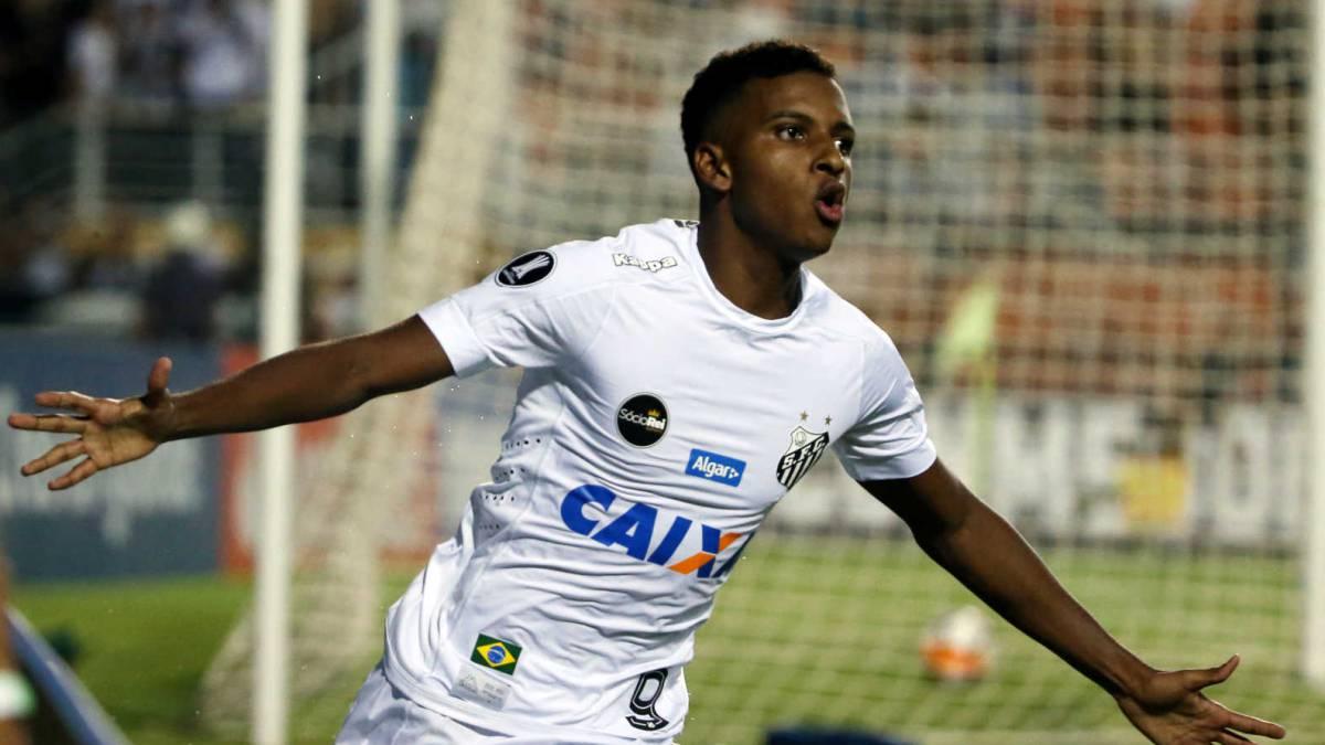 Jovem Rodrygo marcou um gol mas não evitou o empate do Santos