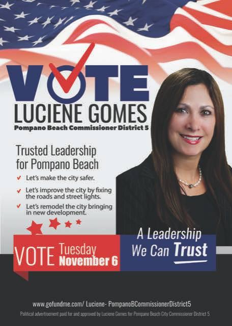 Simone Gomes é candidata em Pompano Beach