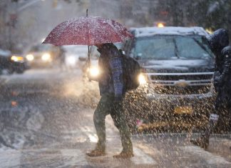 Tempestade de neve castiga NY foto CNN
