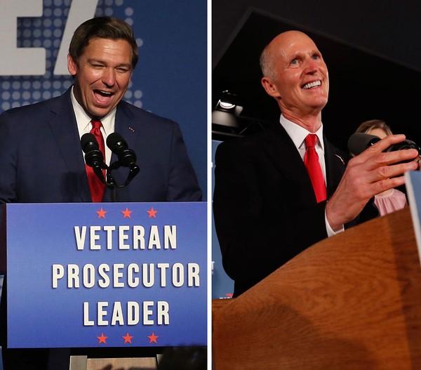 Ron DeSantis é o novo governador da Flórida e Rick Scott é o novo senador