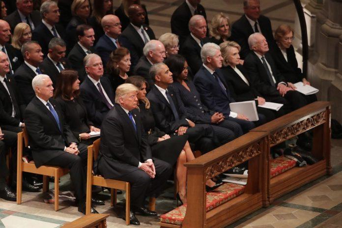 Autoridades se reuniram para o funeral de George H. W. Bush FOTO GETTY IMAGES