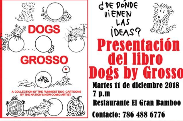 Cartunista Jorge Grosso lança livro sobre cachorros