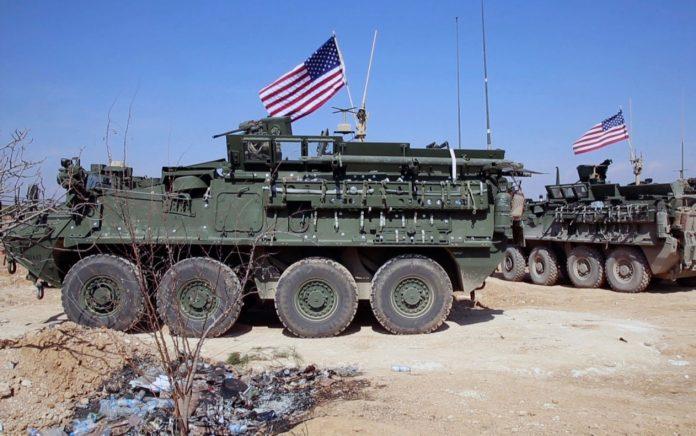 Imagem de vídeo mostra forças dos EUA nos arredores da cidade síria de Manbji, em 7 de março — Foto Arab 24 network, via AP