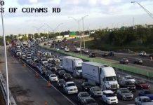 Trânsito na I-95 ficou fechado por mais de seis horas na manhã de sexta-feira (7)