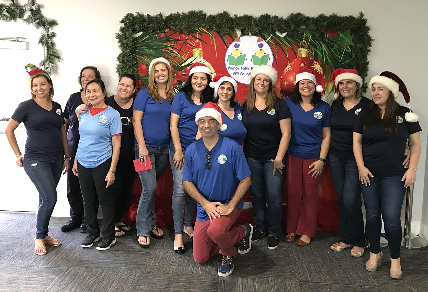 Equipe VFP na confraternização de Natal