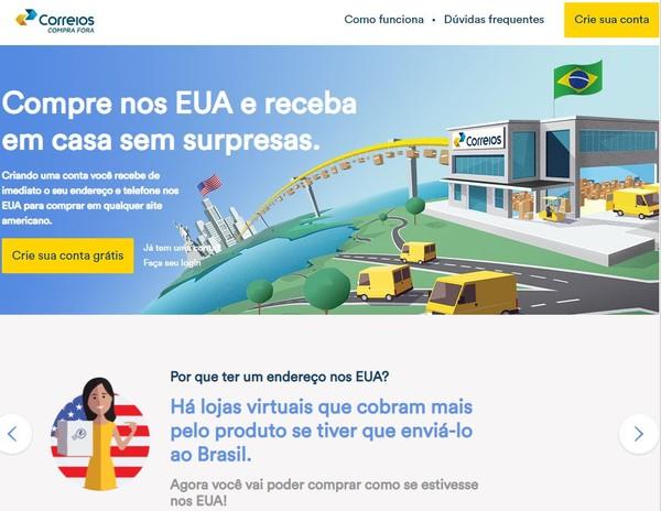 Correios criam ferramenta para envio de produtos dos EUA para o Brasil