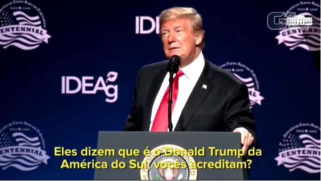 Imagem de Donald Trump reproduzida pelo portal G1