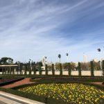 O Parlamento de Israel , o Knesset, e seus belos jardins