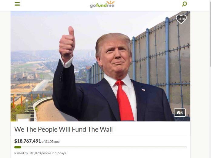 Página do GoFundMe arrecada recursos para a construção do muro
