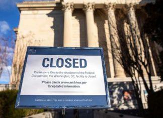 Shutdown do governo começou no dia 22 de dezembro