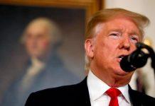 Trump em discurso na Casa Branca FOTO CNN