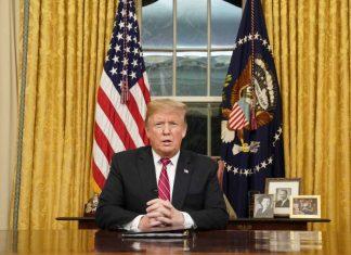 Trump faz pronunciamento à nação FOTO Carlos Barria, AP