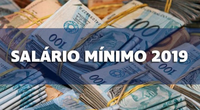 Novo salário mínimo será de R$ 998