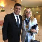Senador de Minas Gerais, Carlos Viana e Marta Batista Ramos no Knesset