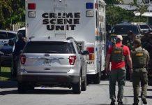 Mulher mobilizou um grande aparato devido a uma briga doméstica em Dania Beach FOTO Joe Cavaretta - Sun Sentinel