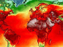 Temperatura do planeta está subindo