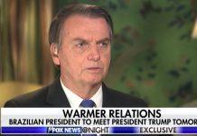 Bolsonaro em entrevista à Fox News