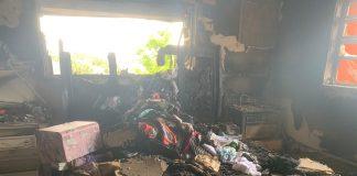 Apartamento em que brasileiras moravam foi completamente destruído pelas chamas