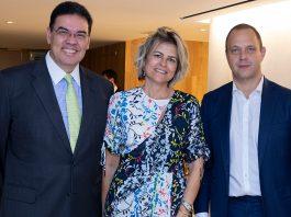Embaixador João Mendes Pereira, Cristina Brulay e Ricardo Puggina