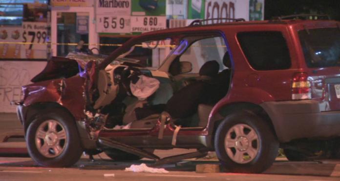 A motorista da SUV foi levada em estado grave para o hospital