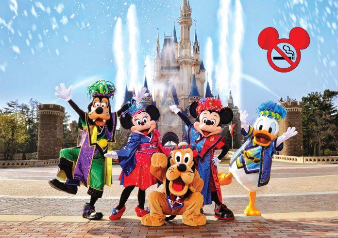 A partir de 1º de maio será proibido fumar dentro dos parques da Disney na Flórida e na Califórnia