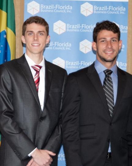 João Pedro Pinto e Alexandre Rondelli integram a associação de estudantes brasileiros