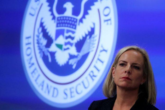 Kirstjen Nielsen deixou o governo de Donald Trump REUTERS/Jonathan Ernst/File Photo
