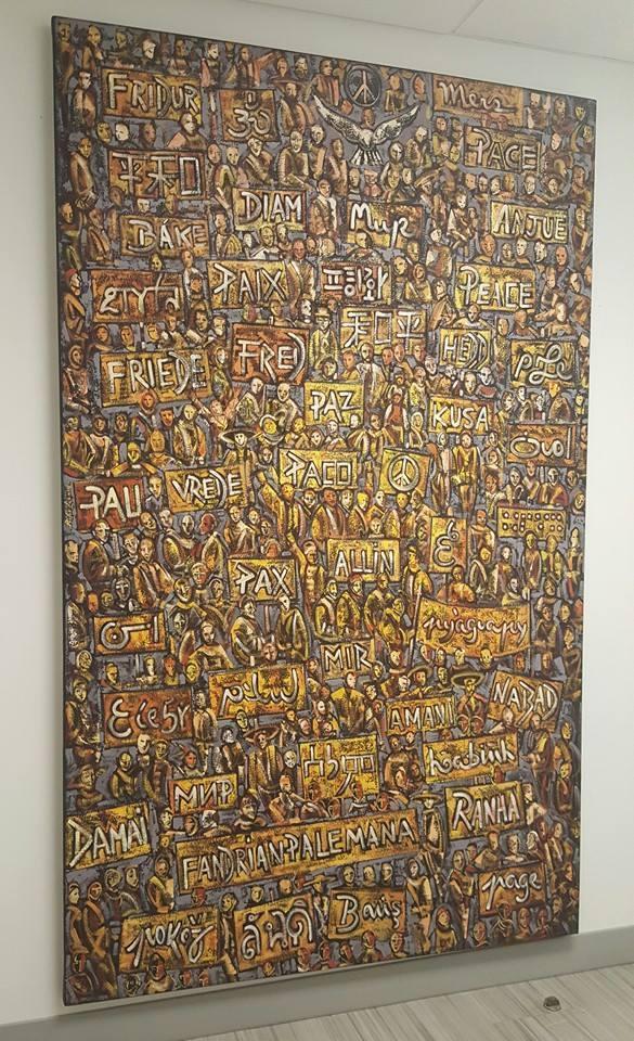 'Passeata pela Paz', um dos quadros mais famosos do artista