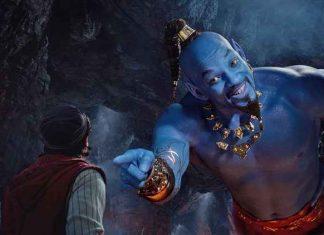 Alladin é estrelado por Will Smith no papel de gênio da lâmpada (Foto: Disney)