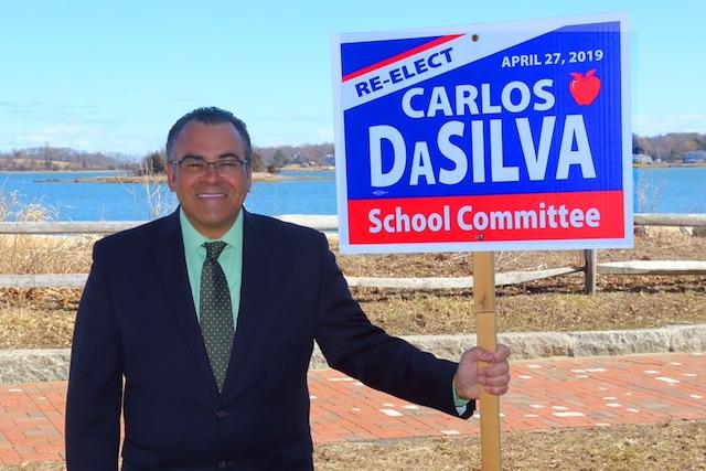 Carlos-Da-Silva comemora a reeleição em Massachusetts FOTO Divulgação da campanha