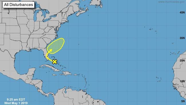 Ciclone tropical pode se desenvolver nos próximos dias Imagem National Hurricane Center