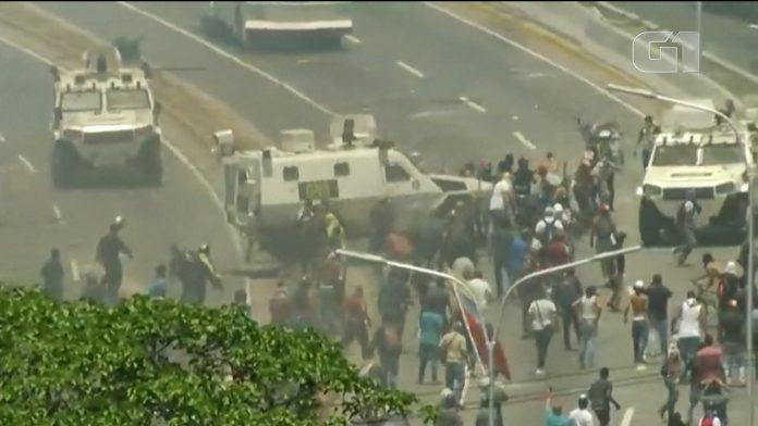 Conflitos na Venezuela Imagens TV Globo
