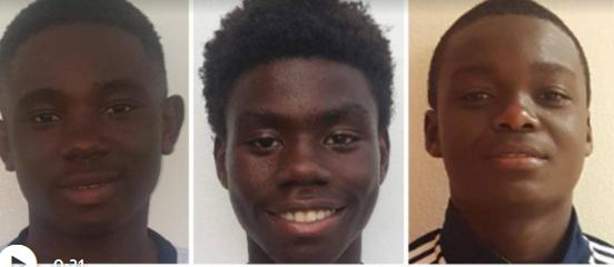 Gedeon, Richecarde e Lens morreram atropelados a caminho de torneio de futebol (Foto Miami Herald)