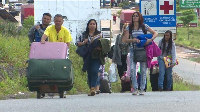 Imigrantes venezuelanos se tornaram um problema para o governo FOTO TV Globo