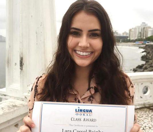 Lara é uma das vencedoras do concurso