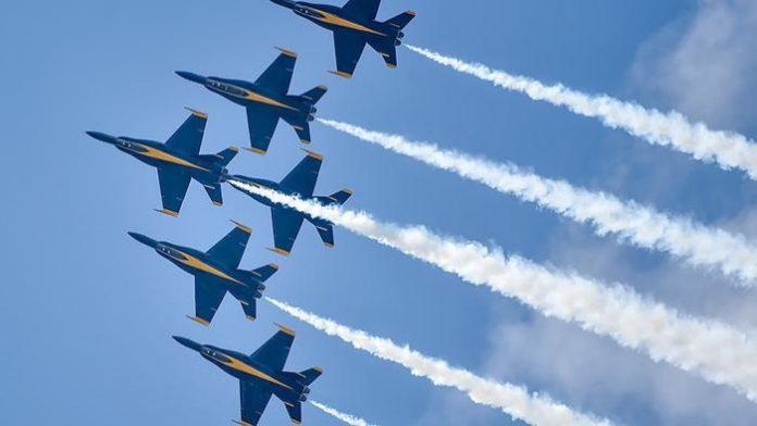 Os Blue Angels serão as estrelas do espetáculo deste ano FOTO Blue Angels