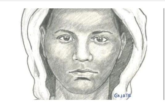 Retrato falado do suspeito de assalto em Pompano Beach em abril