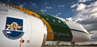 Modelo da Embraer que faz parte do Grupo Especial de Transporte da FAB (Foto Johnson Barros -Força Aérea Brasileira)