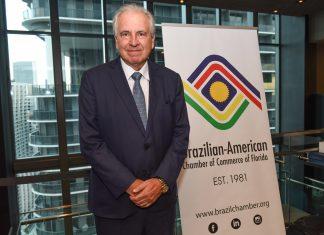 Rubens Menin, agraciado com o Excellence Award da BACCF, em Miami