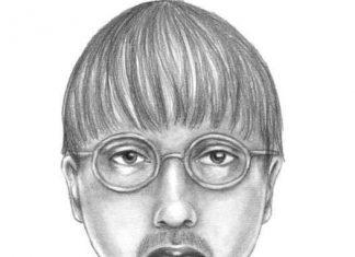 Retrato falado de suspeito de invadir casa em West Boca (Foto divulgada pela polícia de Palm Beach)