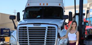 Carolina Ortega é caminhoneira nos EUA (Foto Victor Seabra)
