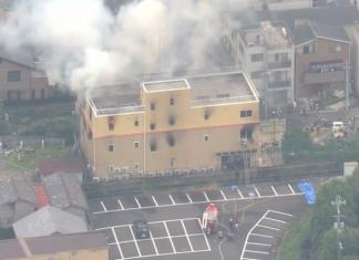 Incêndio criminoso matou pelo menos 33 pessoas no Japão (Foto Reprodução TV Globo)