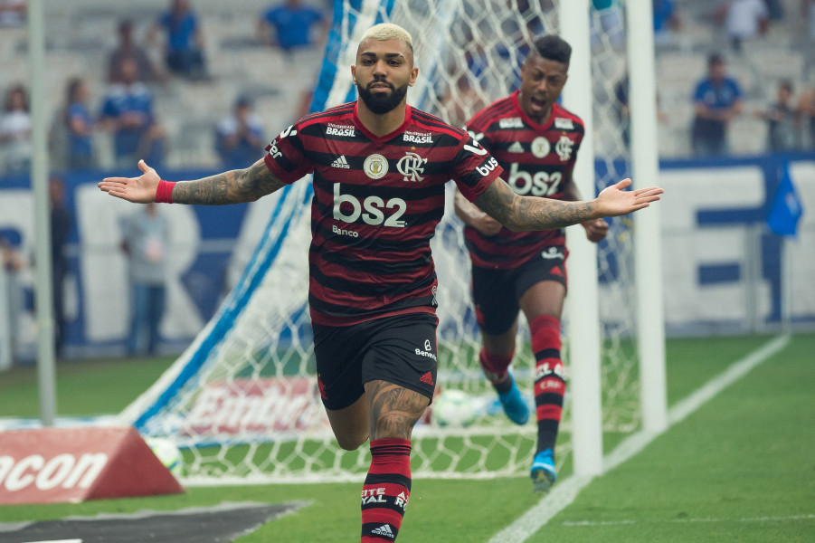 Gabigol e Bruno Henrique marcaram na vitória do Flamengo sobre o Internacional. (Foto: Alexandre Vidal)
