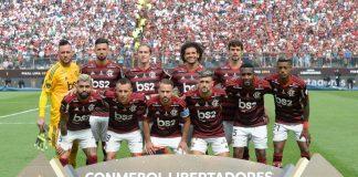 Poster do Flamengo, campeão da Copa Libertadores da América (Foto: Alexandre Vidal/Flamengo)