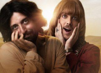Duvivier e Porchat em 'A primeira tentação de Cristo', da Netflix (Foto: Divulgação)