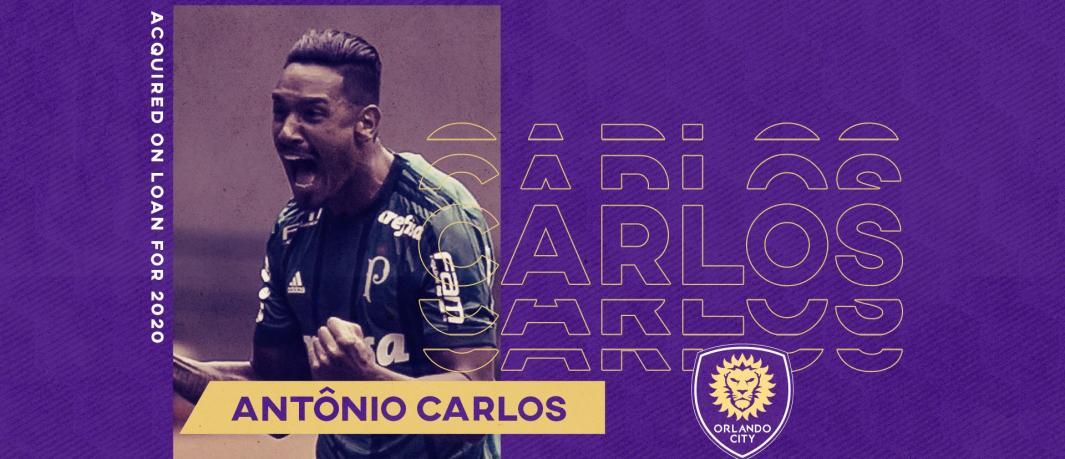 Zagueiro Antônio Carlos trocou o Palmeiras pelo Orlando City SC para disputar a temporada 2020 da MLS
